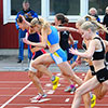Flickor B - 100m final (© Rune Härtull)
